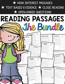 Comprehension Passages   Passages for the Whole Year   Tex-Based Evidence