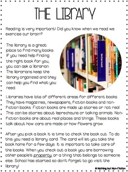 Reading Comprehension Passages: Back to School Edition