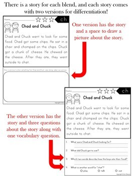 Reading Comprehension Passages and Questions ~ Blends