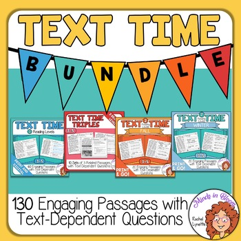 130 Close Reading Passages with Questions Comprehension Bundle Distance Learning