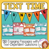 130 Close Reading Comprehension Passages with Questions Print and Google Slides
