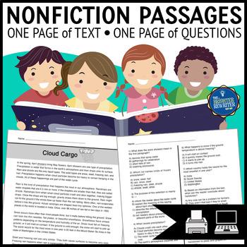Nonfiction Reading Passages Bundle