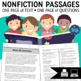 Reading Passages with Multiple Choice Comprehension Questions Bundle