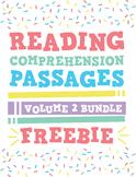 Reading Comprehension Passages Bundle: GR Levels C-I Vol 2 Sampler Freebie