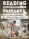Reading Comprehension Passages Bundle: Guided Reading Levels C-I