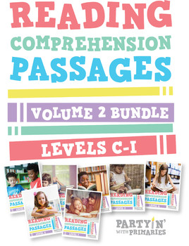 Reading Comprehension Passages Bundle: Guided Reading Levels C-I Volume 2