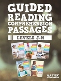 Reading Comprehension Passages Bundle: Guided Reading Levels J-N