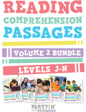 Reading Comprehension Passages Bundle: Guided Reading Levels J-N Volume 2