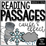 Cause and Effect Reading Passages | 2nd Grade | Distance Learning