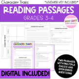Reading Comprehension Passages - Character Traits - Digital Included!