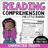 Reading Comprehension Passages - Character Traits | Digital Distance Learning