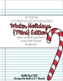 Reading Comprehension Passages {Christmas Holiday Themed & Common Core}
