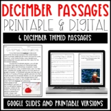 Leveled Text: December Reading Passages