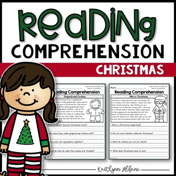 Reading Comprehension Passages - Christmas/Winter