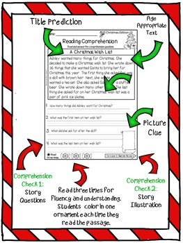 Reading Comprehension Passages {December 1st & 2nd Grade}