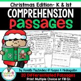 Reading Comprehension Passages {December Kindergarten & 1st}