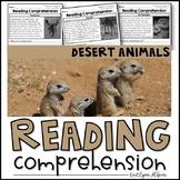 Reading Comprehension Passages - Desert Animals