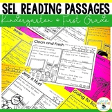 Back to School Social Emotional Learning (SEL) Reading Comprehension Passages