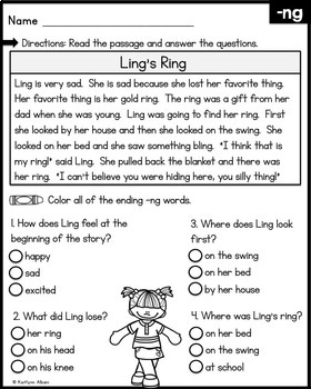 Reading Comprehension Passages - Digraphs