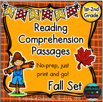 Reading Comprehension Passages- Fall Edition