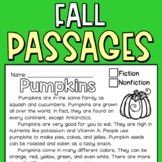 Fall Reading Comprehension Passages for Second Graders