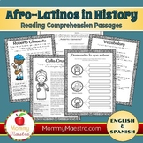 Reading Comprehension Passages: Famous Afro-Latinos (vol 1) COMBO PACK