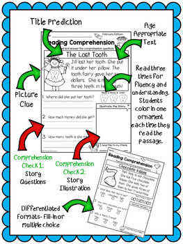 Reading Comprehension Passages {February Kindergarten & 1st}