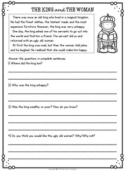 Second Grade Reading Comprehension Passages and Questions