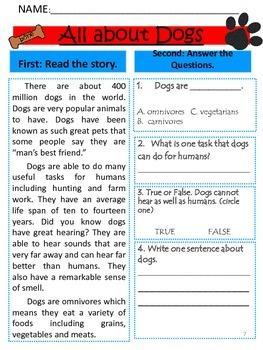 Reading Comprehension Passages (Fiction & Non-Fiction)