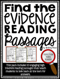 Reading Comprehension Passages Find the Evidence