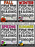 Reading Comprehension Passages - Find the Evidence - Seasonal Bundle