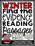 Winter Reading Comprehension Passages - Find the Evidence