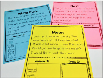 FLUENCY CHECK Reading Comprehension Passages First Kindergarten vol. 3