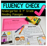 FLUENCY CHECK Reading Comprehension Passages First Kinderg