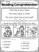 Kindergarten Reading Comprehension (Winter Edition)