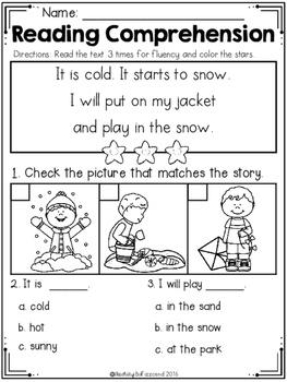 kindergarten reading comprehension winter edition by teaching biilfizzcend. Black Bedroom Furniture Sets. Home Design Ideas