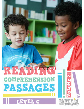 Reading Comprehension Passages: Guided Reading Level C Volume 2