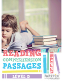 Reading Comprehension Passages: Guided Reading Level D Volume 2