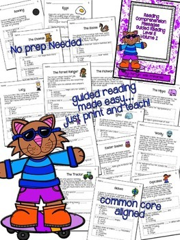 Reading Comprehension Passages: Guided Reading Level E Volume 2