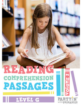 Reading Comprehension Passages: Guided Reading Level G Volume 2