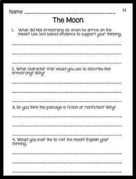 Reading Comprehension Passages: Guided Reading Level H Volume 2