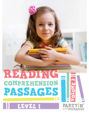 Reading Comprehension Passages: Guided Reading Level I Volume 2