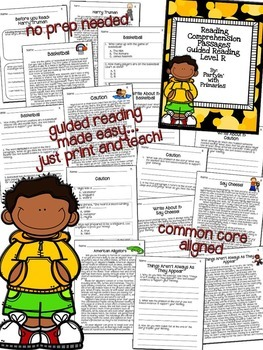 Reading Comprehension Passages: Guided Reading Level R