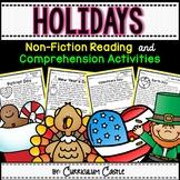 Reading Comprehension Passages: HOLIDAYS & SCHOOL CELEBRATIONS!