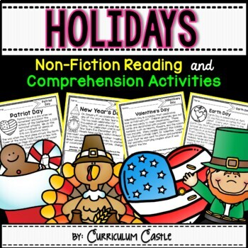 Reading Comprehension Passages: HOLIDAYS & SCHOOL CELEBRATIONS!