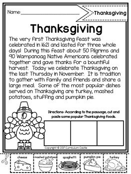 Reading Comprehension Passages: HOLIDAYS & CELEBRATIONS {Distance Learning}