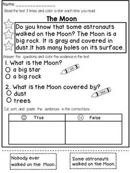 Reading Comprehension Passages (1st Grade) by Dana's ...