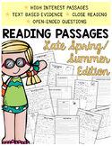 2nd Grade Comprehension Passages | Spring and Summer Text-Evidence Passages