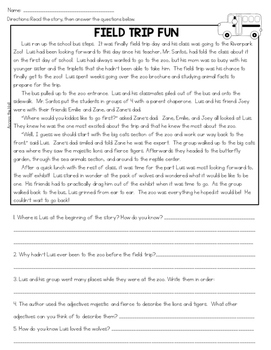 2nd Grade Comprehension Passages   Spring and Summer Text-Evidence Passages