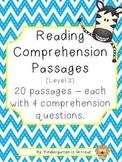 Reading Comprehension Passages - Level 2